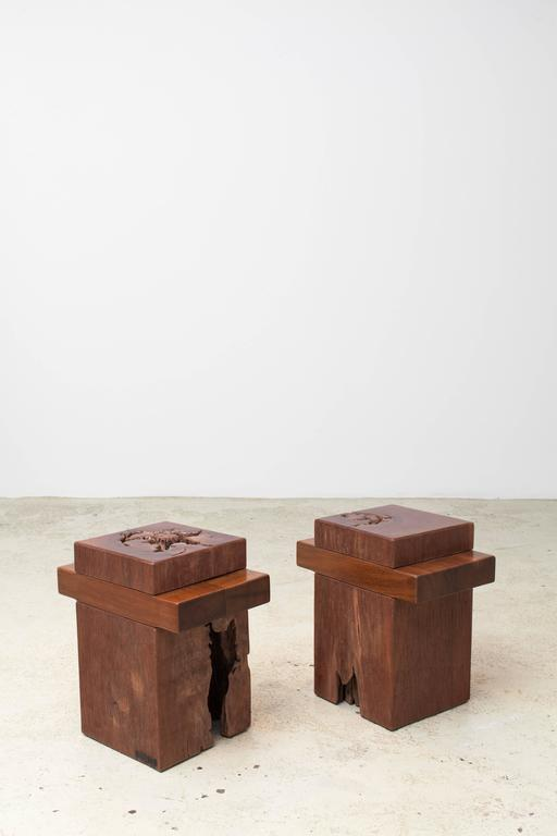 Contemporary Zanini De Zanine, Pair of 'Joá' Stools, 2012 For Sale