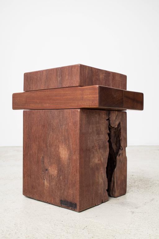 Reclaimed Wood Zanini De Zanine, Pair of 'Joá' Stools, 2012 For Sale