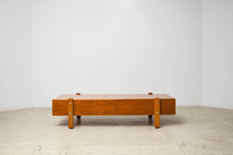 Mid-Century Modern Vintage Sergio Rodrigues, Eleh Bench / Coffee Table, 1965 For Sale