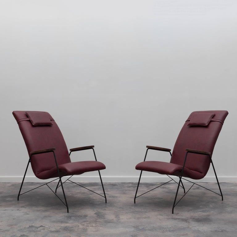 Pair of vintage Espaldar armchairs designed in the 1950s by Martin Eisler.