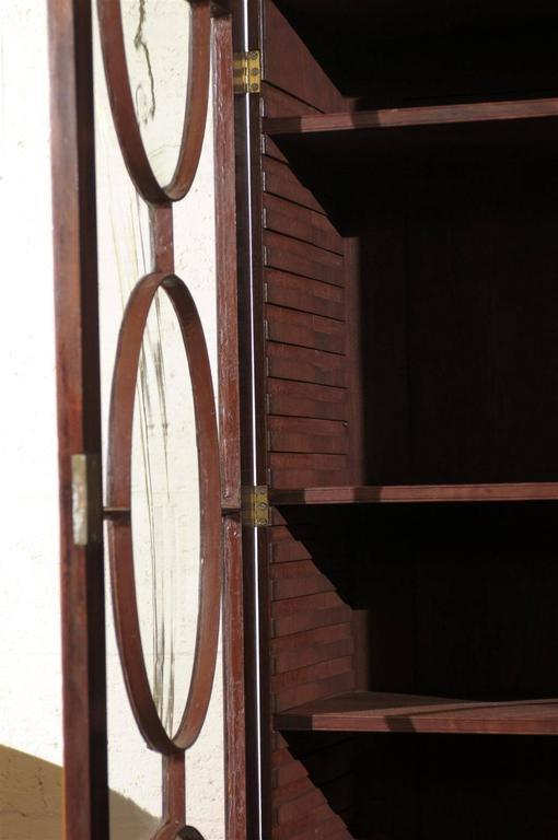 19th Century English Mahogany Breakfront Bookcase 5