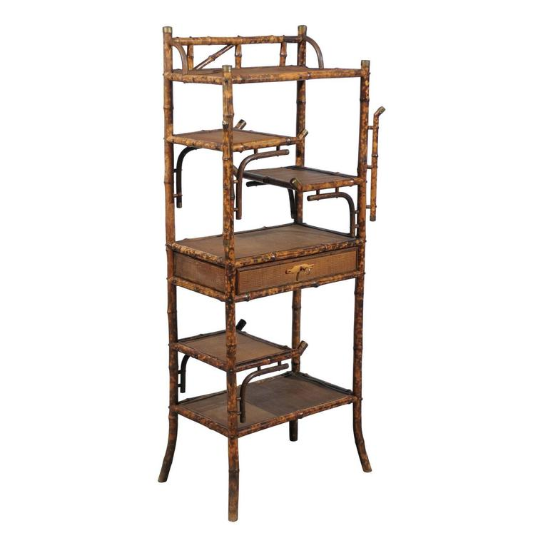 19th Century Continental Bamboo Shelf or Stand