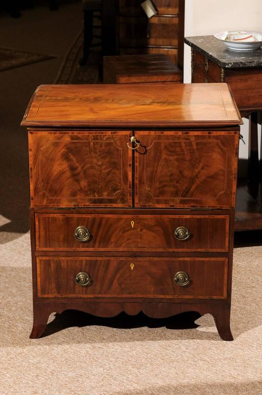 georgian mahogany bedside commode sheraton period for sale at 1stdibs. Black Bedroom Furniture Sets. Home Design Ideas