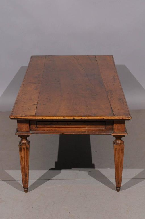 Italian neoclassical style walnut coffee table at 1stdibs Tuscan style coffee table