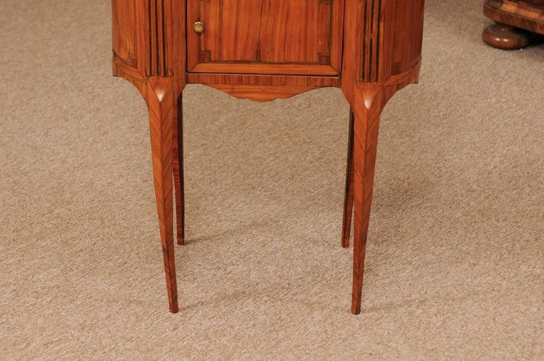 18th Century French Louis XVI Period Kidney Shaped Tulipwood Table with Marble For Sale 6