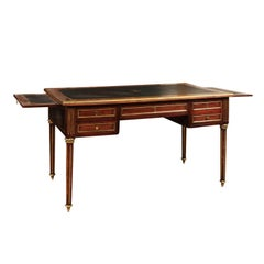 Louis XVI Style French Mahogany Bureau Plat or Writing Table
