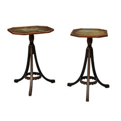 Pair of Regency Style Ebonized Side Tables
