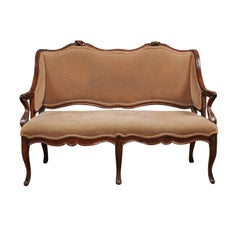 French 18th Century Louis XV Walnut Settee