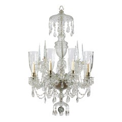 Mid-19th Century Irish Waterford Crystal Eight-Arm Chandelier