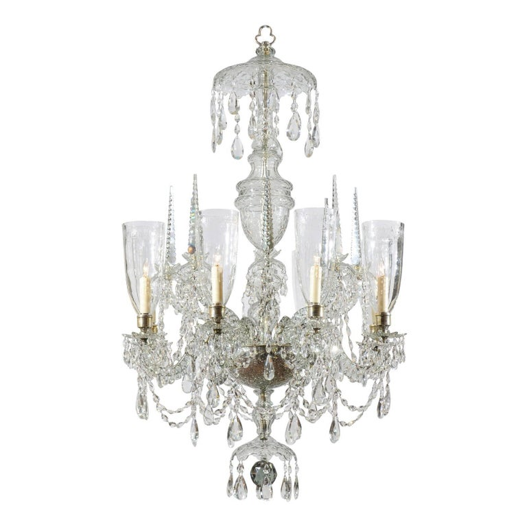 Mid 19th century irish waterford crystal eight arm chandelier for mid 19th century irish waterford crystal eight arm chandelier for sale aloadofball Images