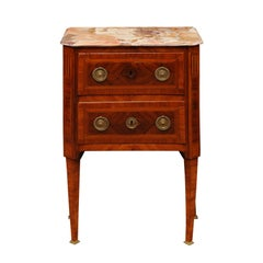 French Louis XVI Inlaid Petite Commode in Kingswood, Late 18th Century