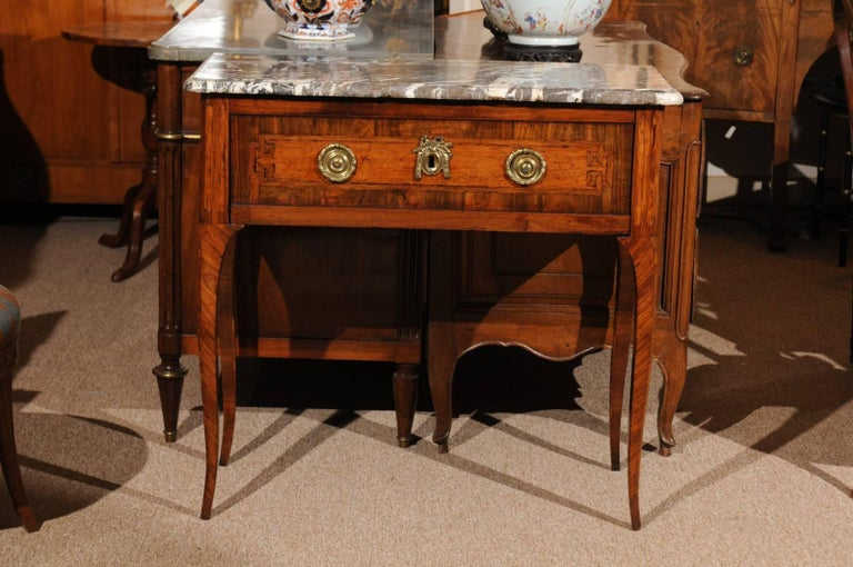 18th Century French Transitional Louis XV/XVI Commode en Console For Sale 1