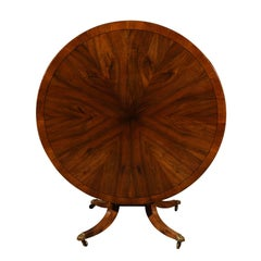 Regency Walnut and Elm Center Table, Early 19th Century