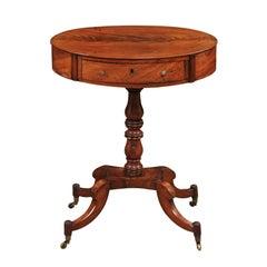 Regency English Mahogany Oval Side Table, Early 19th Century