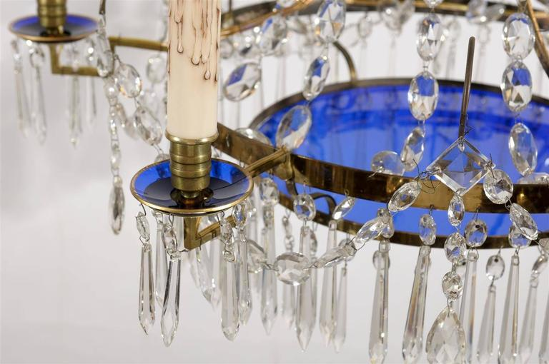 Swedish Neoclassical Style Basket Shaped Chandelier In
