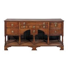 Narrow 19th Century English Oak Dresser Base/Server