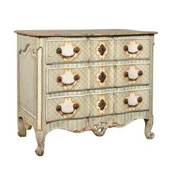 18th Century French Louis XV Painted Commode