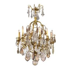 Louis XV Style Gilt Bronze and Cut Crystal Eight-Light Chandelier, France