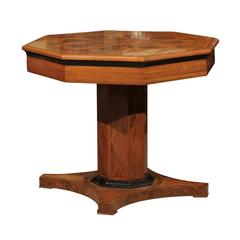 19th Century Italian Neoclassical Style Octagonal Center Table with Inlay