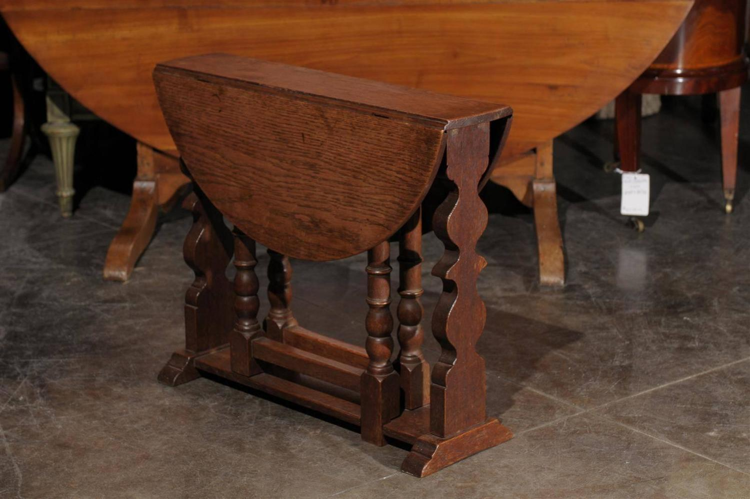 Low English Gate Leg Table For Sale At 1stdibs