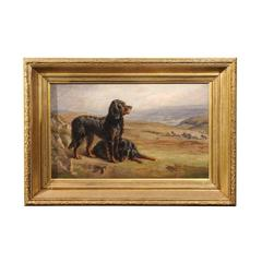Oil Painting of Dogs / Setters