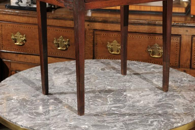 Mid-19th Century Petite French Three-Drawer Commode, Grey Marble Top and Banding 6