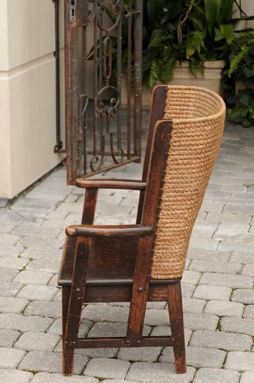Antique Scottish Mid 19th Century Orkney Chair With
