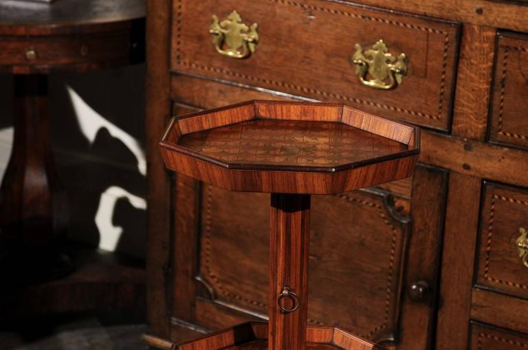 Adjustable French Wooden Dumb Waiter/Pedestal Stand from the Late 19th Century For Sale 1