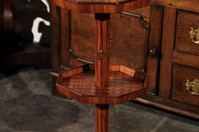 Adjustable French Wooden Dumb Waiter/Pedestal Stand from the Late 19th Century For Sale 2