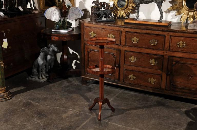 Adjustable French Wooden Dumb Waiter/Pedestal Stand from the Late 19th Century In Good Condition For Sale In Atlanta, GA