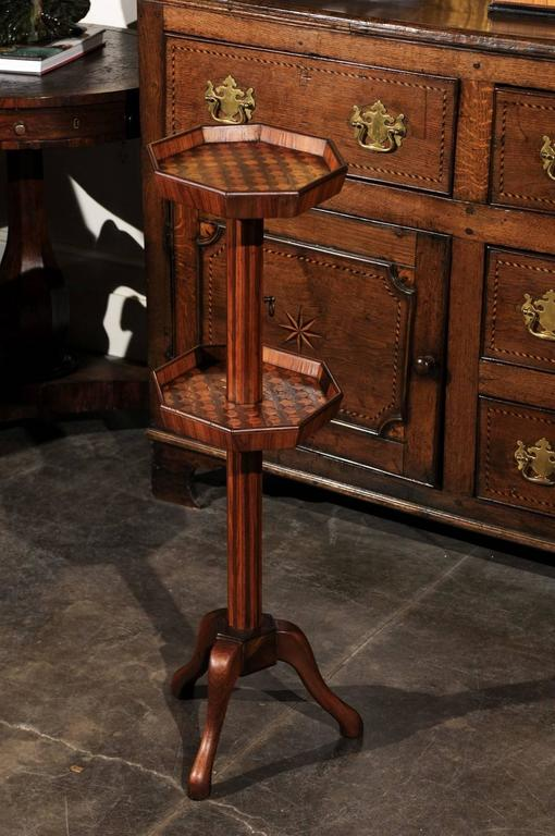Adjustable French Wooden Dumb Waiter/Pedestal Stand from the Late 19th Century For Sale 5