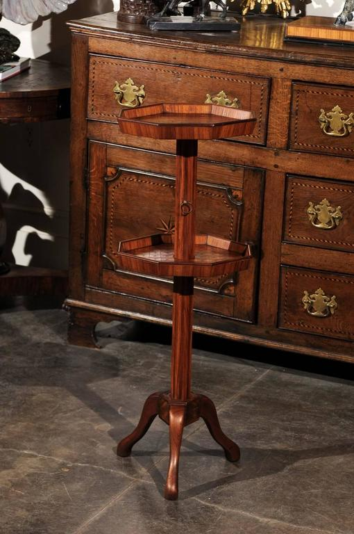 Adjustable French Wooden Dumb Waiter/Pedestal Stand from the Late 19th Century For Sale 6