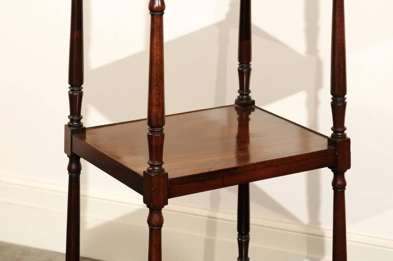 Wood English Mahogany Trolley with Graduated Shelves from the Mid-19th Century For Sale
