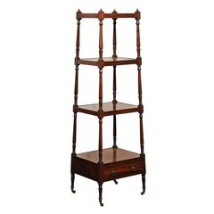 English Mahogany Trolley with Graduated Shelves from the Mid-19th Century