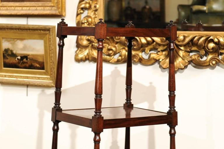 English Mahogany Trolley with Graduated Shelves from the Mid-19th Century For Sale 1