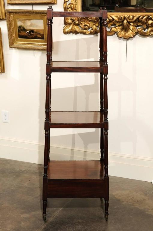 English Mahogany Trolley with Graduated Shelves from the Mid-19th Century For Sale 2