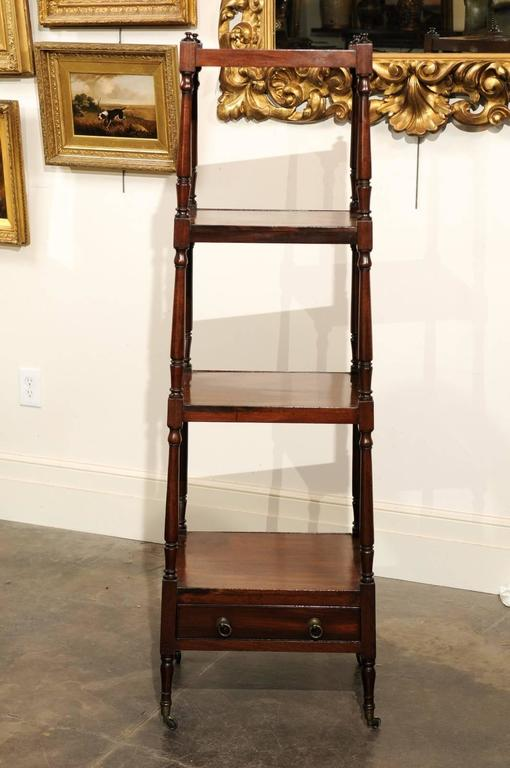 English Mahogany Trolley with Graduated Shelves from the Mid-19th Century For Sale 5