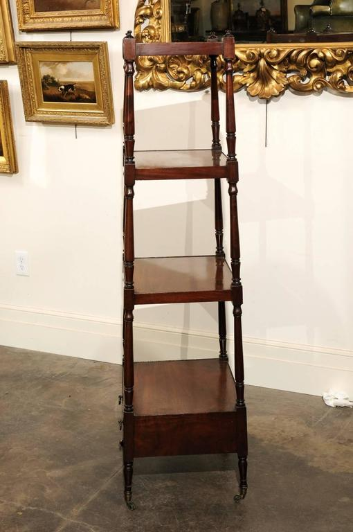 English Mahogany Trolley with Graduated Shelves from the Mid-19th Century In Good Condition For Sale In Atlanta, GA