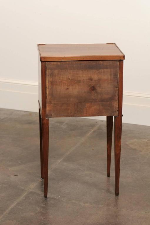 French mahogany turn of the century side table with two