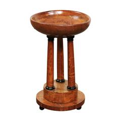 Austrian Biedermeier Wooden Compote with Classical Column Stand, circa 1840