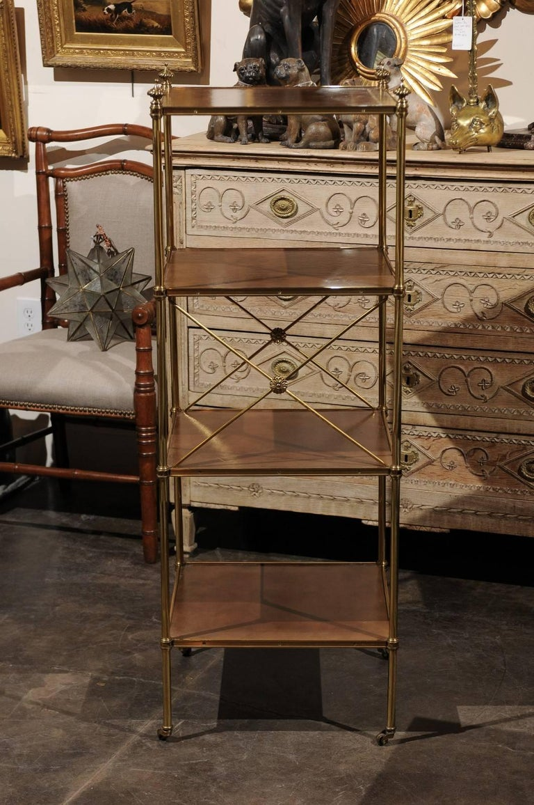 italian mid century brass and leather tag re in the. Black Bedroom Furniture Sets. Home Design Ideas