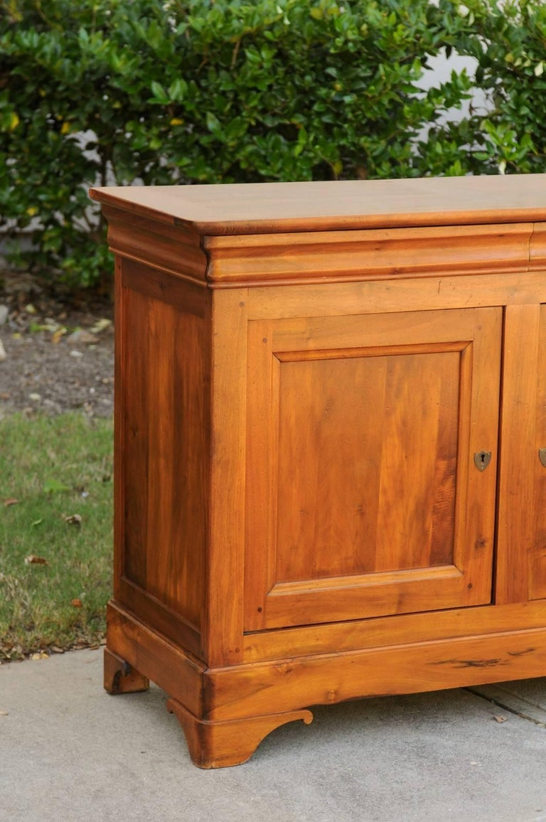 French Wooden Three-Drawer over Three Doors Enfilade from Early 20th Century In Excellent Condition For Sale In Atlanta, GA