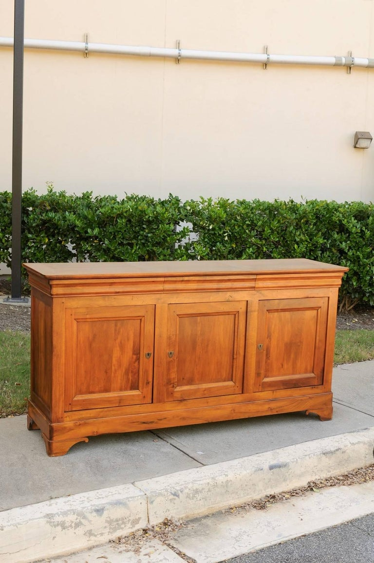 French Wooden Three-Drawer over Three Doors Enfilade from Early 20th Century 4