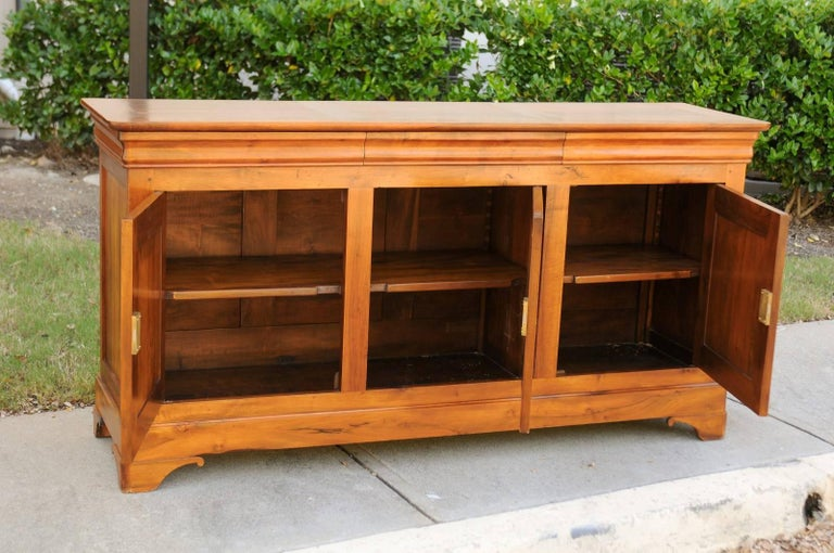 French Wooden Three-Drawer over Three Doors Enfilade from Early 20th Century For Sale 4