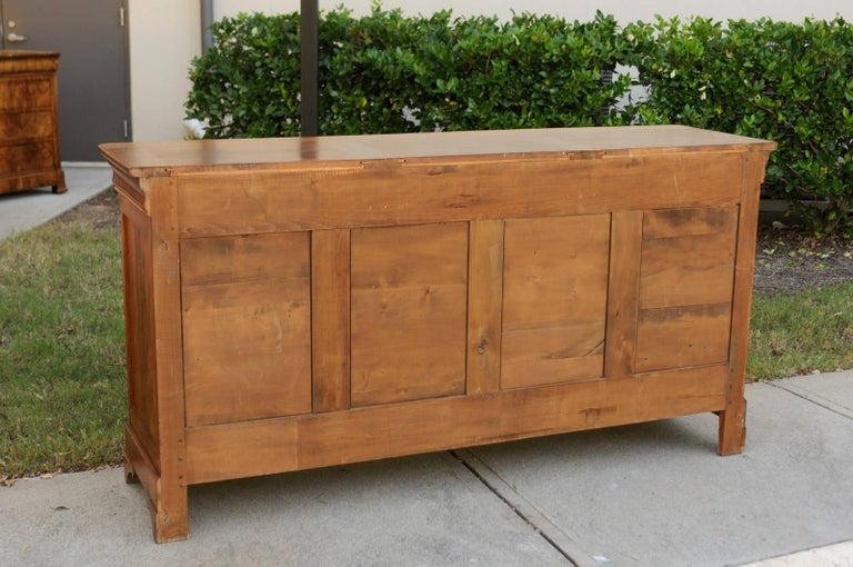 French Wooden Three-Drawer over Three Doors Enfilade from Early 20th Century 8