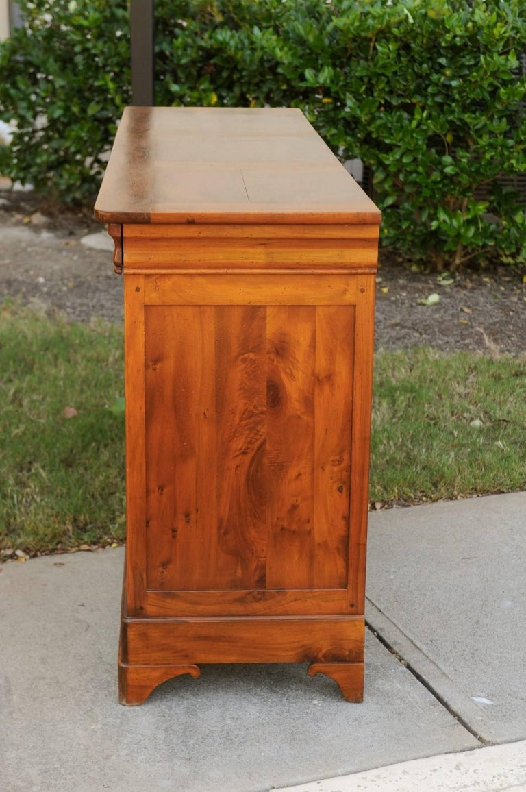 French Wooden Three-Drawer over Three Doors Enfilade from Early 20th Century 9