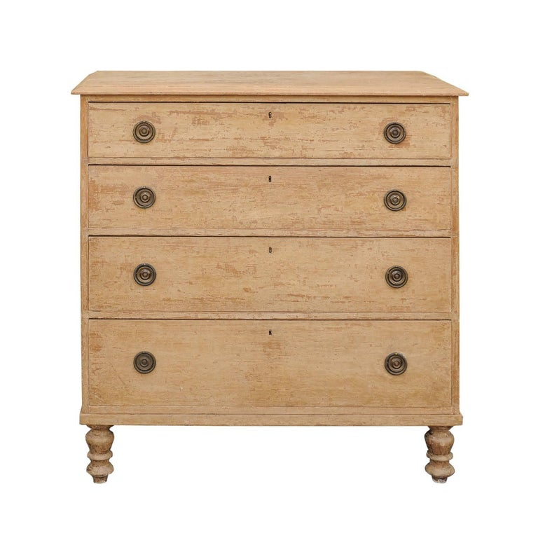 English George III Style Four-Drawer Commode with Original Paint, circa 1850
