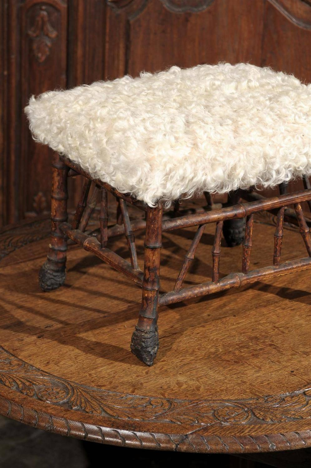 Faux Bamboo Stool At 1stdibs