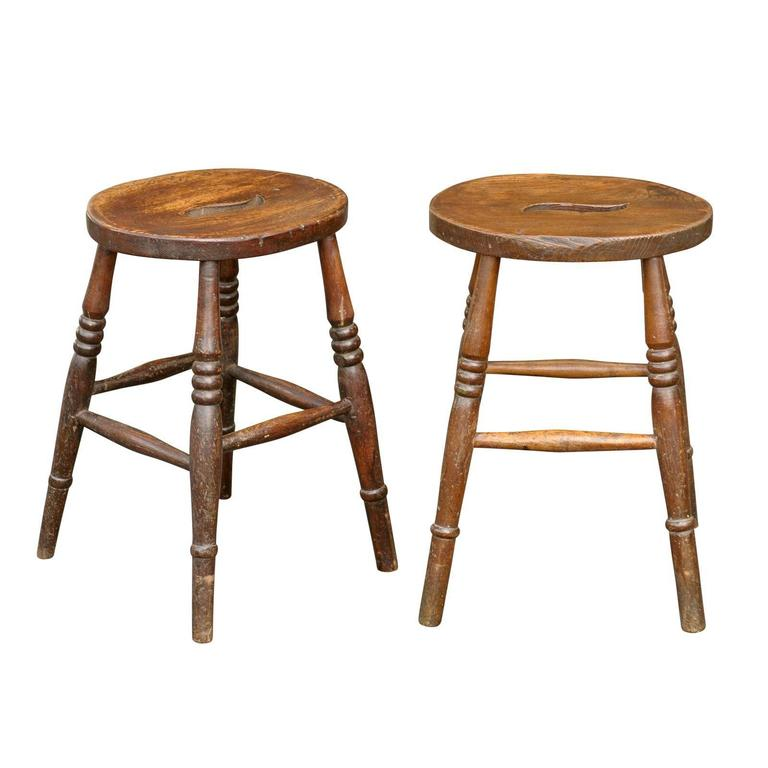 English Oval Stools For Sale At 1stdibs