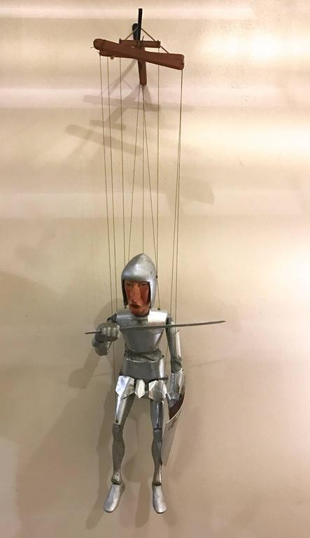 1960s Artists Crafted Medieval Knight Puppet by Stan Felman 2